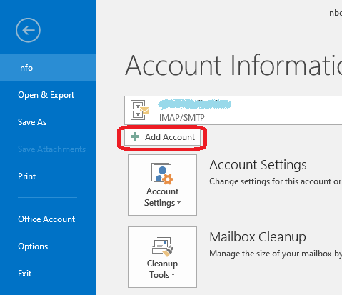 adaugare manuala mail outlook 1