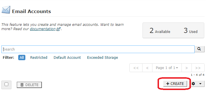 creare cont email cpanel 2 1
