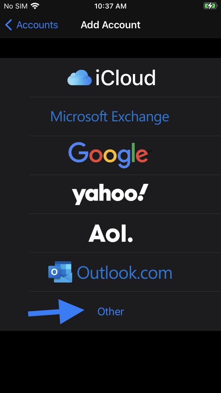 configurare email iphone 4